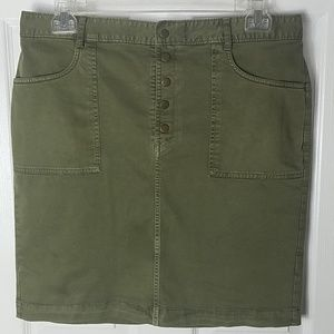 Banana Republic, olive green, khaki skirt, size 14